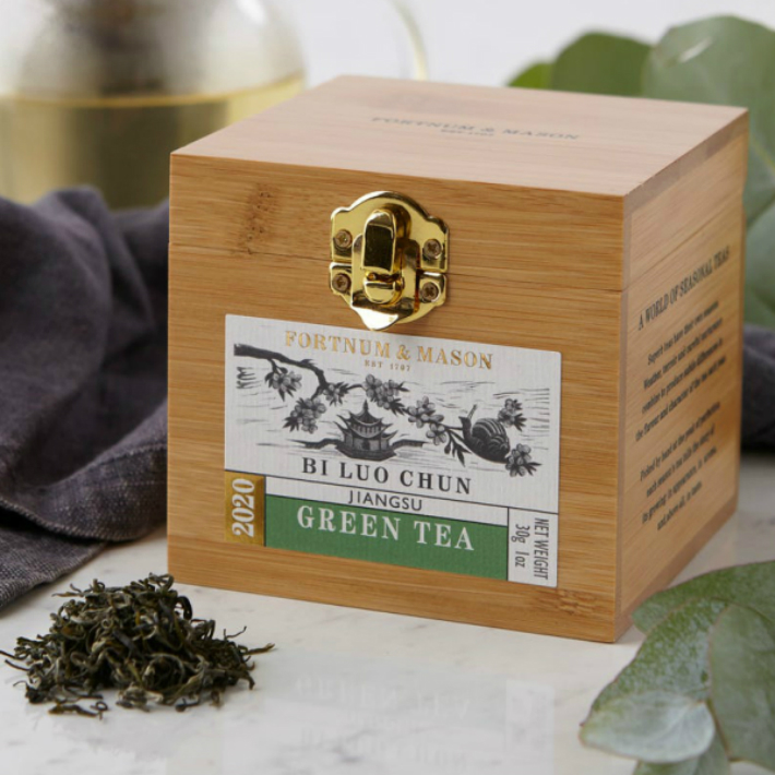 30gx1箱 FORTNUM MASON Bi Luo Chun Wooden Caddy Loose 超激安 アンド リーフティー Tea イギリス直送 英国紅茶 メイソン Leaf 正規品送料無料 フォートナム