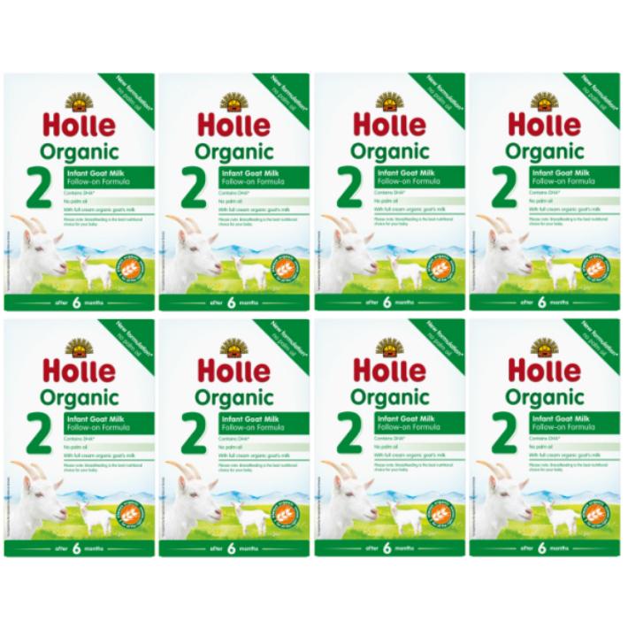 400g 8箱セット 6カ月から ホレ オーガニック ヤギミルク Holle Organic Infant 公式 DHA含有 Goat Formula 高い素材 Milk ステップ2 2 乳児用ゴート粉ミルク リニューアル