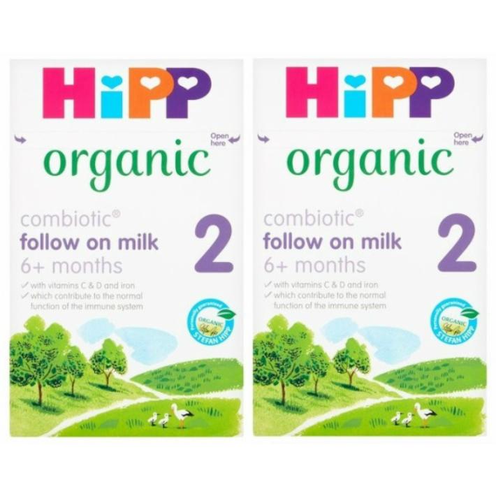 セットアップ 市場 800g 2箱セット 6カ月から HIPP organic オーガニック粉ミルク ヒップ COMBIOTIC