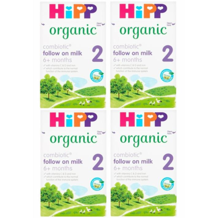 800g 4箱セット 6カ月から HIPP ヒップ COMBIOTIC organic まとめ買いでお得 現品 オーガニック粉ミルク 保障