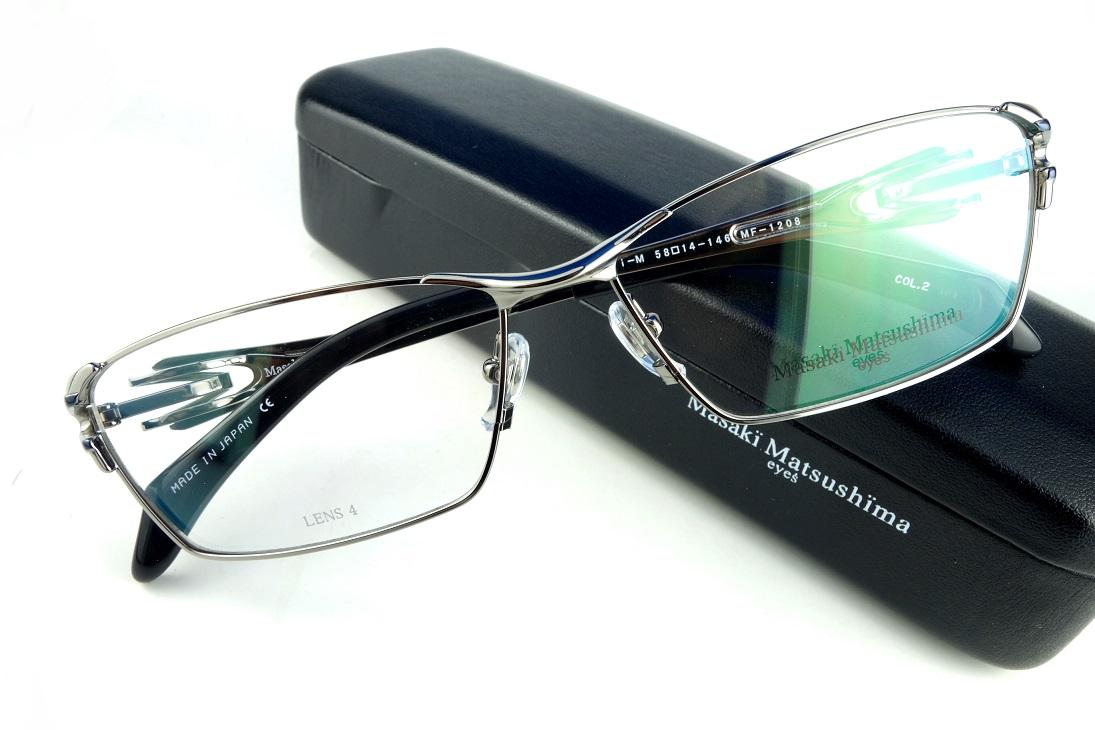 Masaki Matsushima/マサキマツシマMF-1208 C.2メンズアイウェア【送料無料】【基本レンズ無料TITANIUM定価41,040円