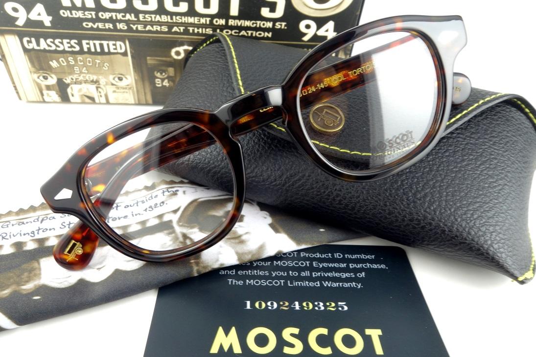 MOSCOT/モスコットLEMTOSH/レムトッシュ 46Size TORTOISE正規品【送料無料】【基本レンズ無料】人気モデル再入荷!