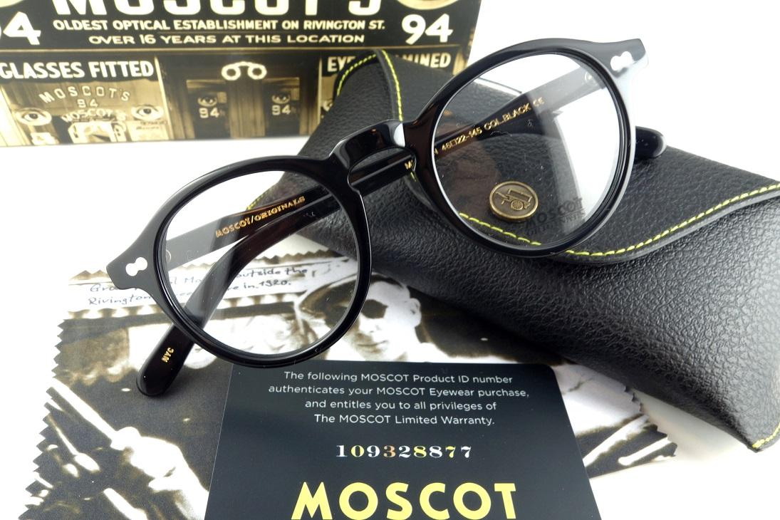 MOSCOT/モスコットORIGINALSMILTZEN 46 BK正規品【送料無料】【基本レンズ無料】人気モデル再入荷!