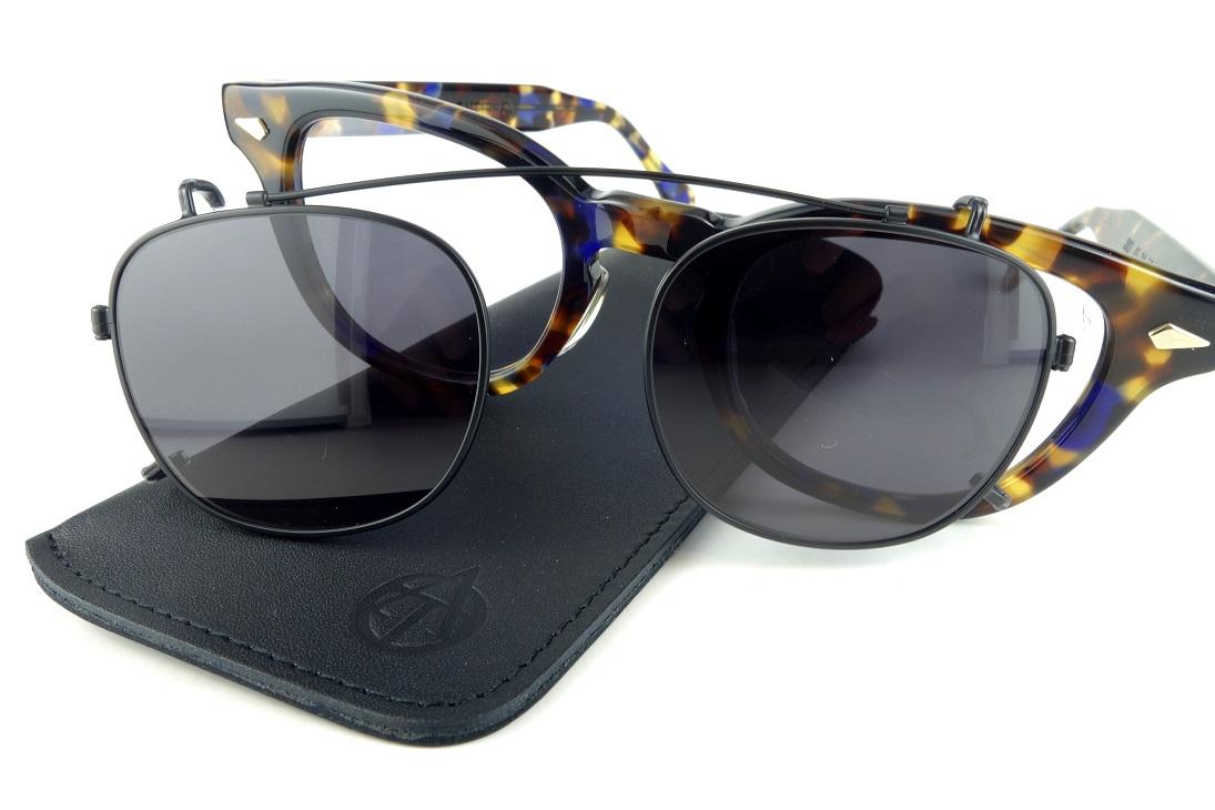TART OPTICAL/タート オプティカルARNEL/アーネルJD-04専用クリップオンサングラス46size【送料無料】日本製正規品BLACK