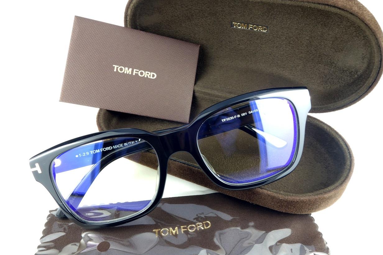 TOMFORD/トムフォードTF5535-F-B 001アジアンフィット正規品定価51,700円