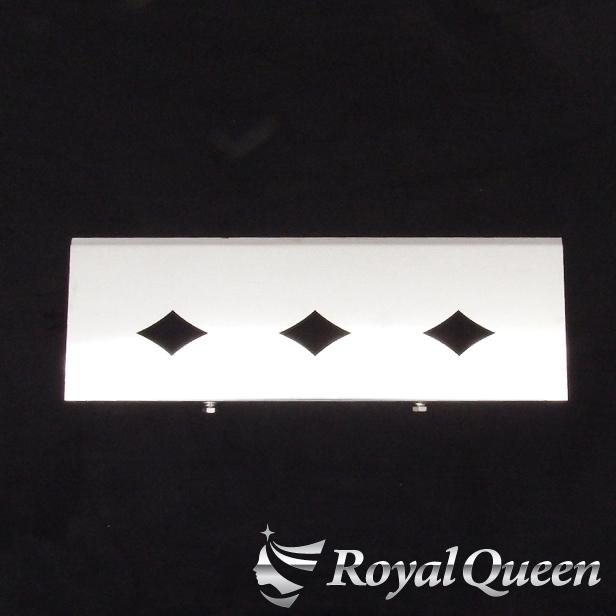 【送料無料】【新型 17 プロフィア用 バッテリーカバー470 飾り パネル タイプ2(ダイヤ) 鏡面 磨き#1000】トラック デコトラ パーツ トラック用品 ステンレス RoyalQueen