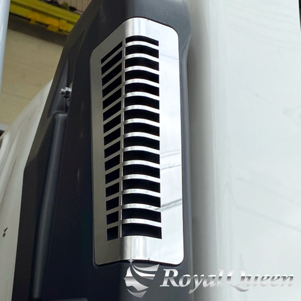 オリジナル商品 送料無料 いすゞ エルフ エアクリーナーダクトパネル 鏡面 #1000 ISUZU RoyalQueen ステンレス デコトラ !超美品再入荷品質至上! トラック用品 トラック 期間限定特別価格 パーツ