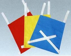 Color plain trapezoid bibs for children one (cotton)