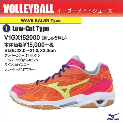 ミズノ/MIZUNO オーダシステム WAVE RAIJIN Type Low-Cut【ネーム刺繍なし】V1GX152000