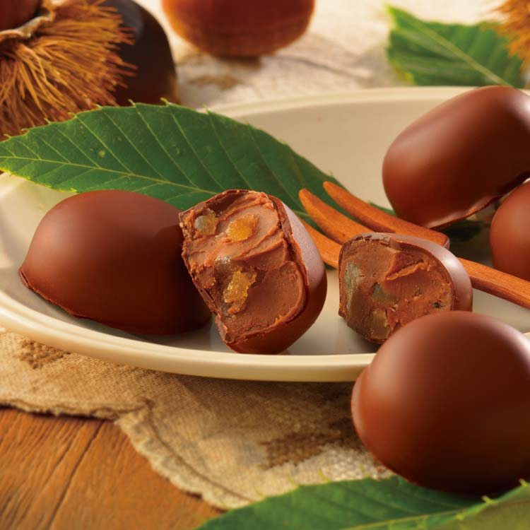 マロングラッセをとじ込めた 贅沢ショコラ 公式 期間数量限定 栗スイーツ ロイズ 栗のショコラ プレゼント チョコレート いよいよ人気ブランド ギフト スイーツ 激安 おしゃれ チョコ スイーツセット