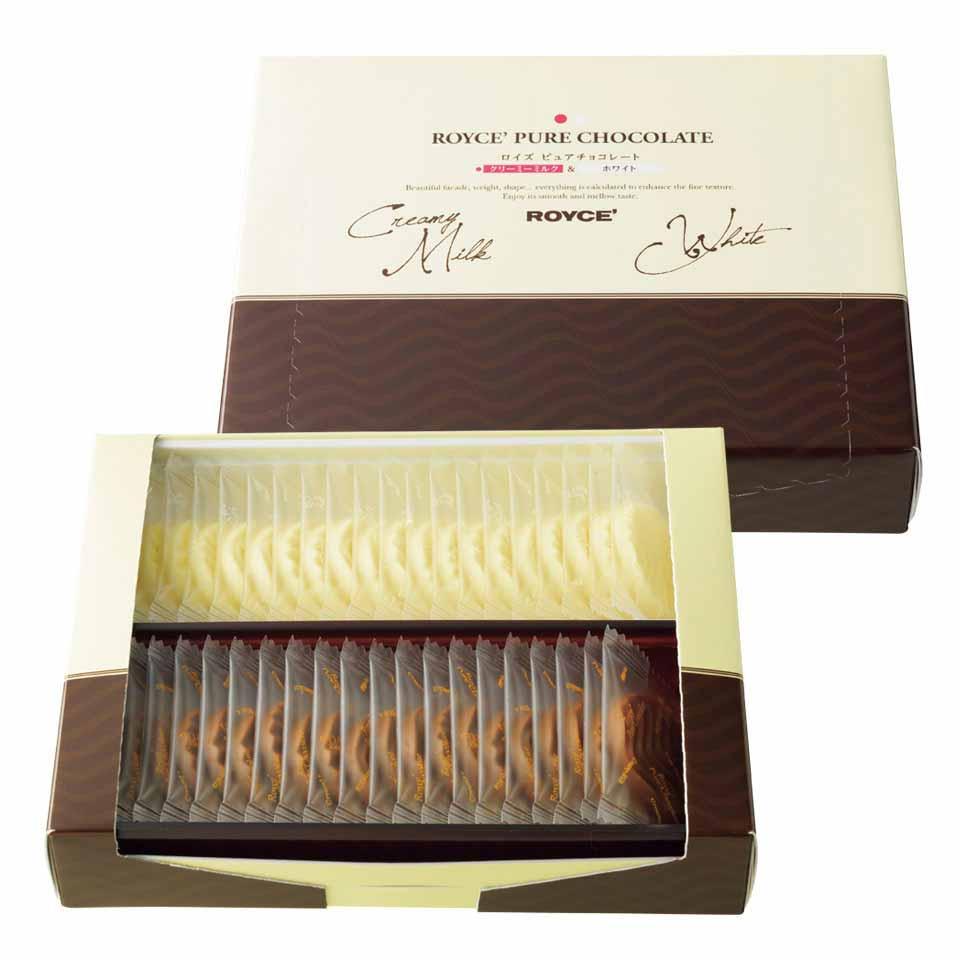 かろやかな甘さの 2種のチョコレートを楽しめる 休み 日本正規代理店品 公式 ロイズ ピュアチョコレート クリーミーミルクホワイト スイーツ スイーツセット プチギフト プレゼント おしゃれ ギフト