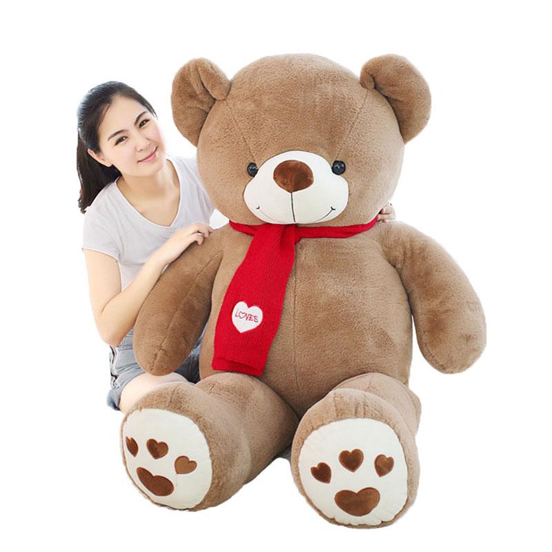 ぬいぐるみ クマ マフラー付き テディベア クマのぬいぐるみ 大きい 熊 子供 彼氏 彼女 家族 クリスマス かわいい プレゼント 男の子 女の子 小学生 150cm