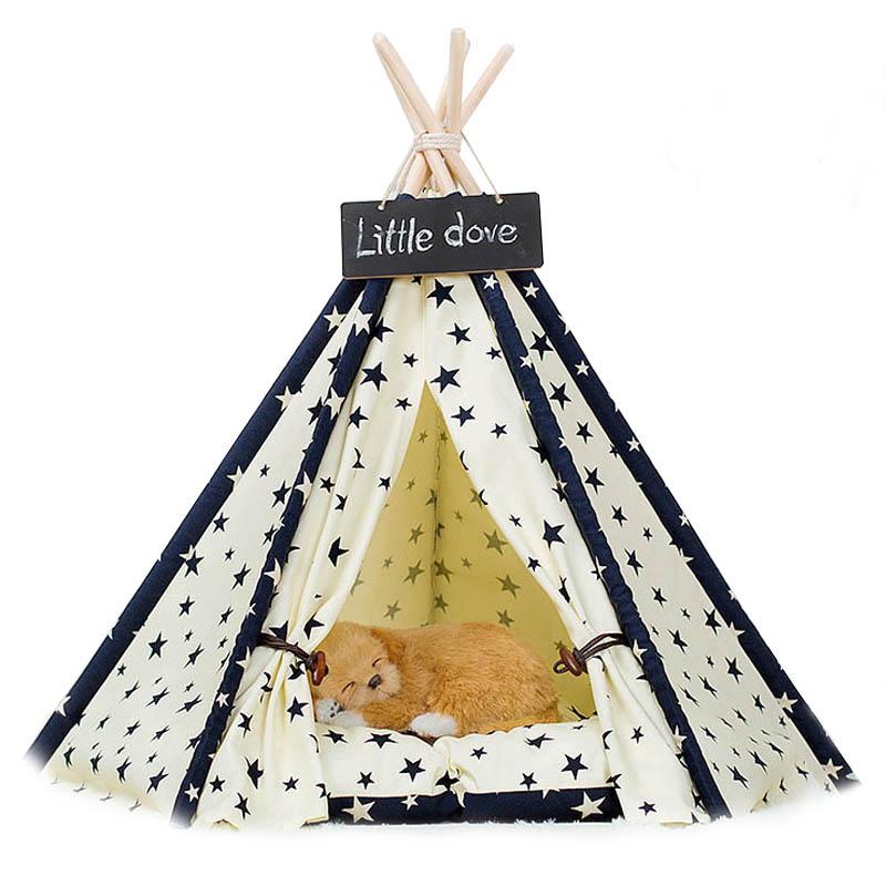 Mサイズ テント ペット ペットテント ティピーテント ペットハウスドッグハウス キャットハウス 簡単組み立て 小屋 簡易テント 室内テント プレゼント 秘密基地