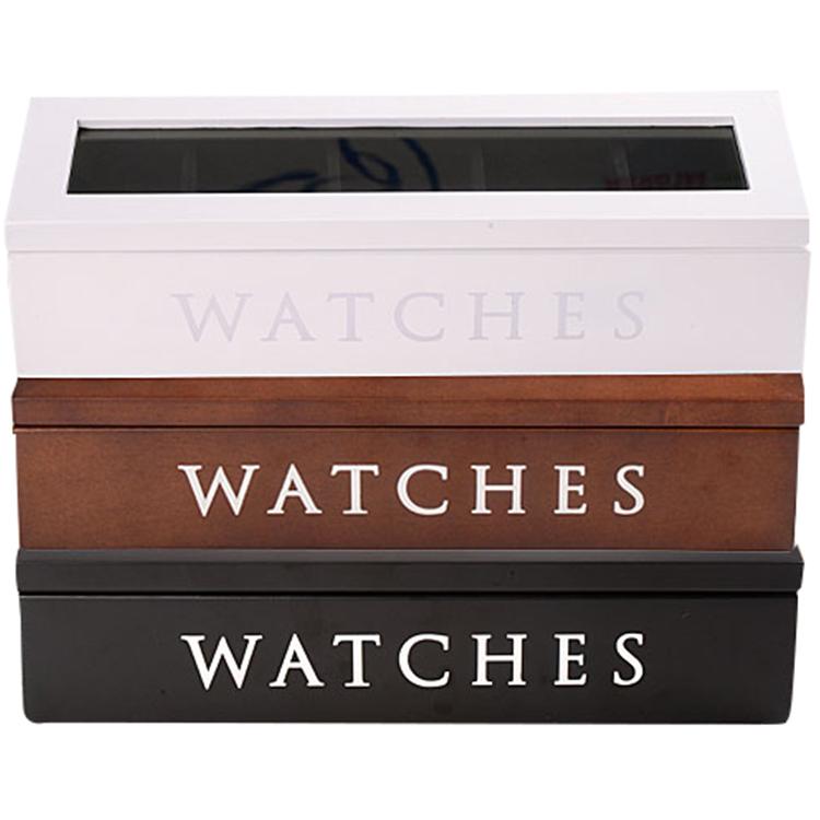 木製 高級 時計ケース ウォッチボックス ジュエリーボックス コレクションボックス 収納ボックス 5本収納 インテリア