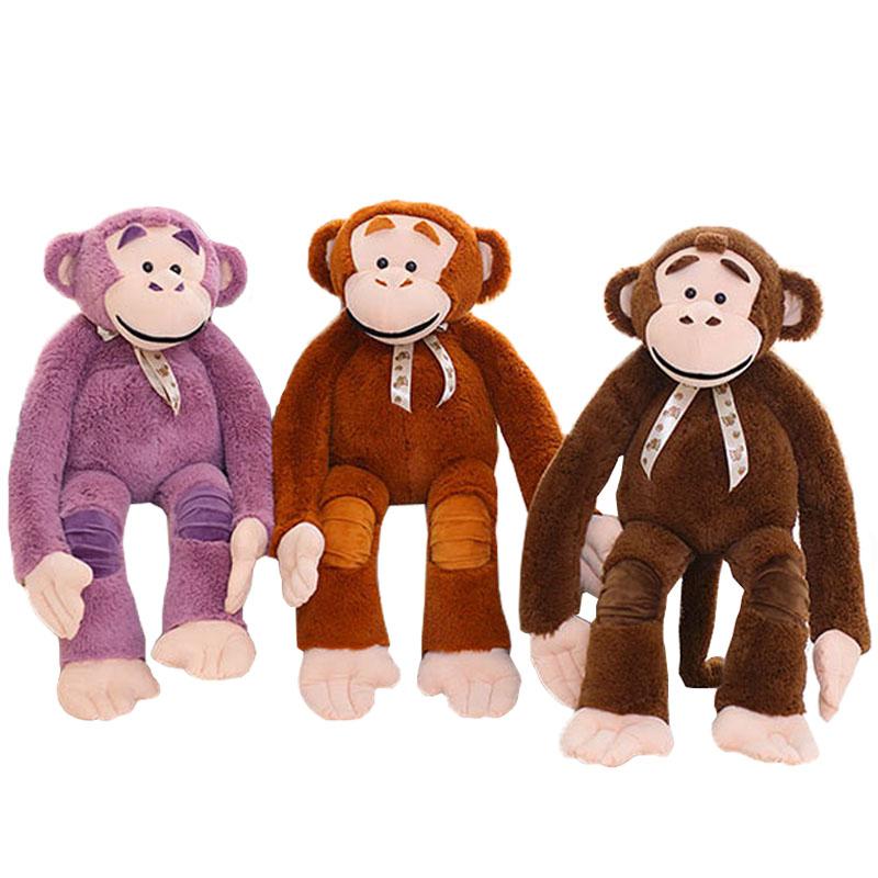 サルのぬいぐるみ チンパンジー リアルモンキー お誕生日プレゼント 大きい 手触りふわふわ 動物 抱き枕 女性 彼女 ギフト 贈り物 女の子 店飾り おもちゃ 135cm