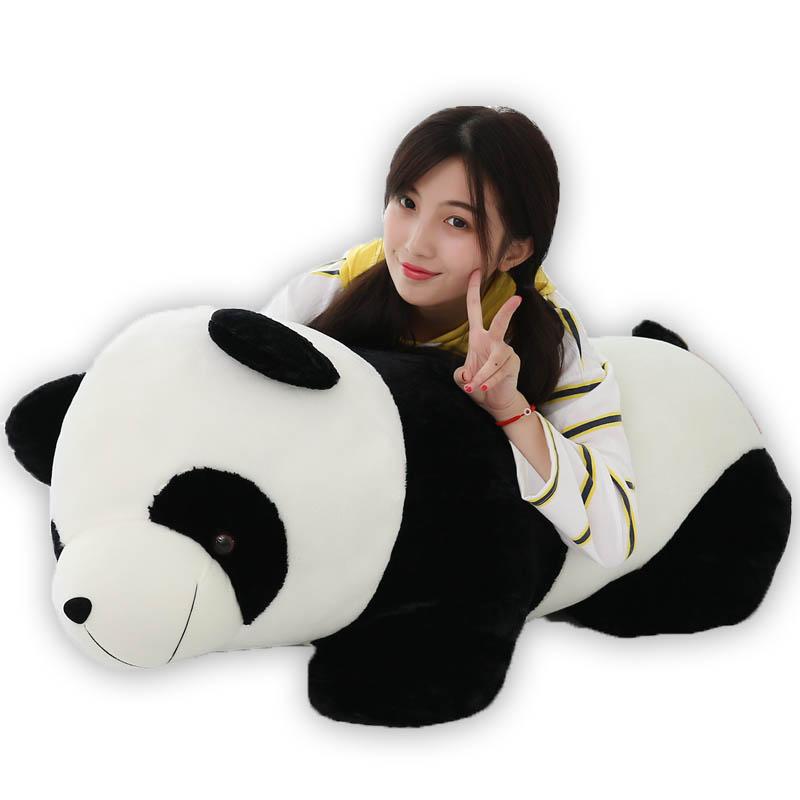 可愛いパンダ PANDA 抱き枕 特大 プレゼント 御祝い お誕生日プレゼント ぬいぐるみ 手触りふわふわ 動物 抱き枕 クリスマス 彼女 ギフト 贈り物 店飾り おもちゃ 全長80cm