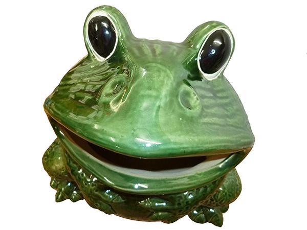 【送料無料】陶器製置物/カエルの傘立て/蛙/傘置き/緑蛙 グリーン グリーン/アンブレラスタンド/ダストボックス/ゴミ入れに/ アウトレット/かえるの置物/サイズ/高さ48×幅45×奥行き41cm/置物/陶器(※こちらの商品は送料無料です), PICAPICA:08350577 --- sunward.msk.ru