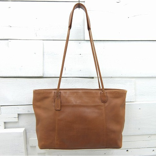 old coach オールドコーチ レザー トートバッグ 【ブラウン】 made in usa / bag933 / 【170802】 【中古】
