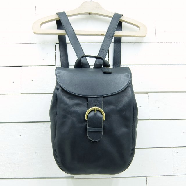 old coach オールドコーチ レザー リュックサック 【ブラック】 made in usa / bag1320 / 【中古】