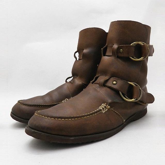 1970's ASPEN アスペン ビンテージ ボア付き モカシンリングブーツ ブラウン レザー スノーブーツ US11D 29cm / boots22 / 【中古】