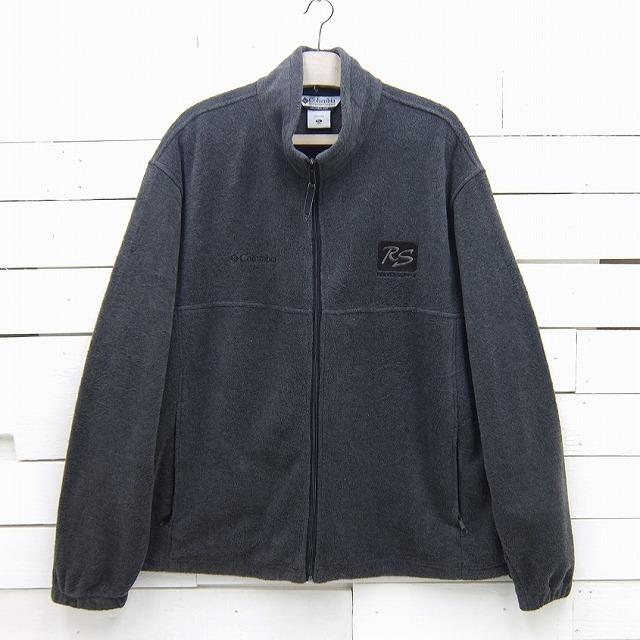 Columbia コロンビア 刺繍入り ジップアップ フリースジャケット ダークグレー メンズ XLサイズ / jkt233sa / 【中古】