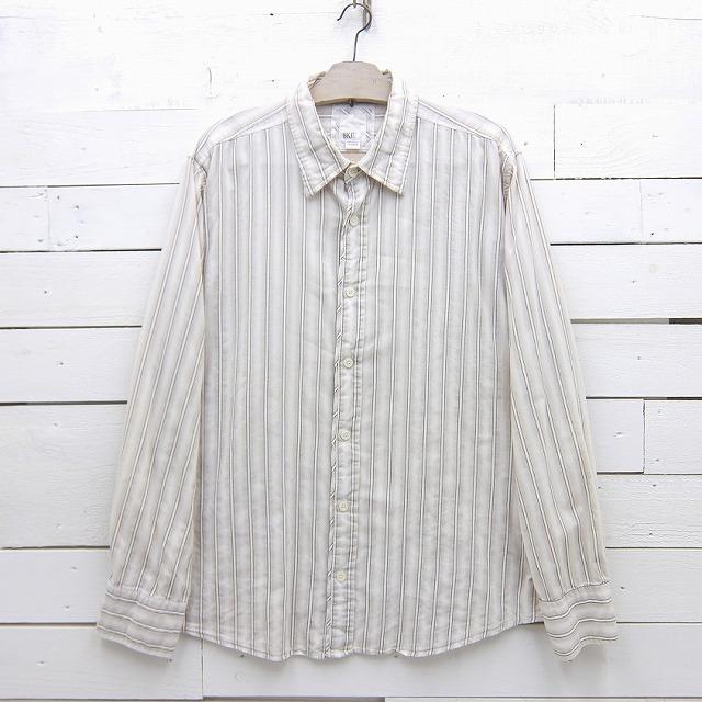 BKA. 与え slim fit stretch 長袖 中古 lsshirt251sa ストライプシャツ XLサイズ セール商品 メンズ