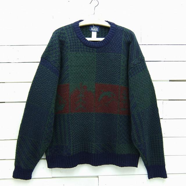 Woolrich ウールリッチ 総柄 ウールニットセーター メンズ XLサイズ / sweater135sa / 【中古】