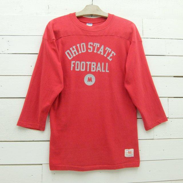 1970's Champion チャンピオン フットボールTシャツ OHIO STATE FOOTBALL ブルーバータグ ビンテージ メンズ Mサイズ made in usa / tshirt665 / 【中古】
