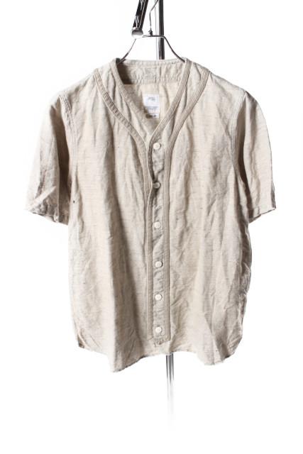 【新入荷!!】ビズビムvisvim 18SS DUGOUT SHIRT S/S FLANNELシャツ[MSHP59163]【PP】【中古】【5400円以上のご購入で送料無料】