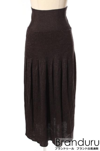 【新入荷!!】プラダPRADA カシミヤシルクニットスカート[LSKP19583]【FF】【中古】【5400円以上のご購入で送料無料】