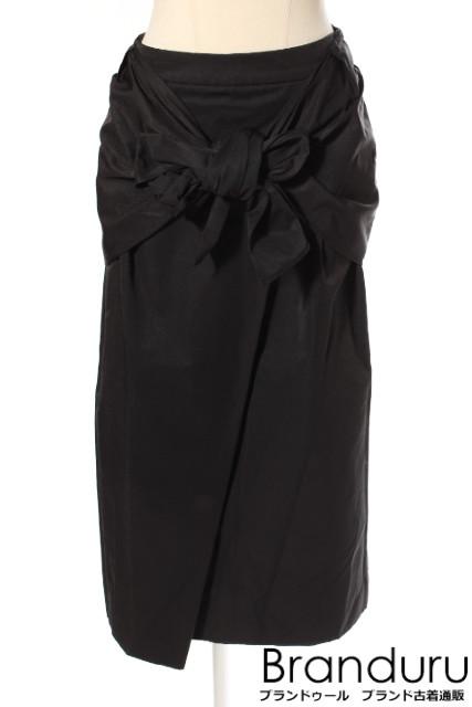 【7月31日に再値下げ!】ELINエリン 18SS ウエストボウミディスカート[LSKP19210]【中古】【5400円以上のご購入で送料無料】