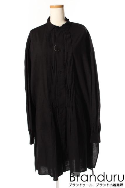 【7月31日に再値下げ!】Y'sワイズ フロントデザインシャツワンピース[LOPP19850]【PP】【中古】【5400円以上のご購入で送料無料】