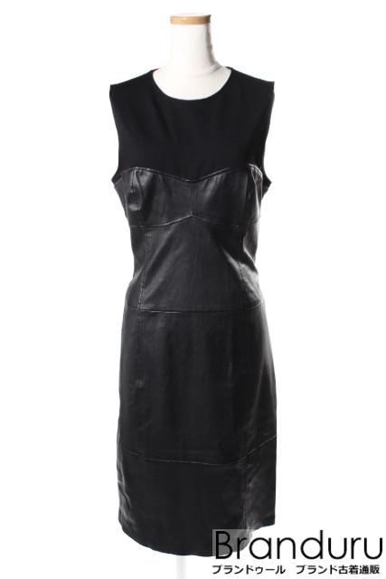 【入荷時より価格値下げ!】セオリーtheory 18SS Bristol Leather Lthr Bustier ドレス[LOPP34389]【PP】【中古】【5400円以上のご購入で送料無料】