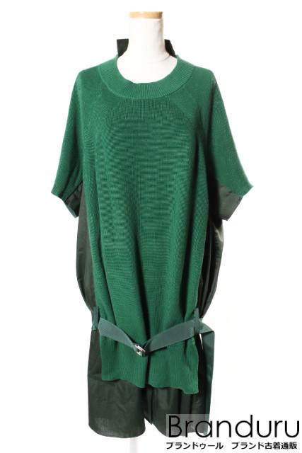 【春夏物新入荷!!】サカイsacai 18SS Classic Cotton Knit Dressワンピース[LOPP28555]【PP】【中古】【5400円以上のご購入で送料無料】