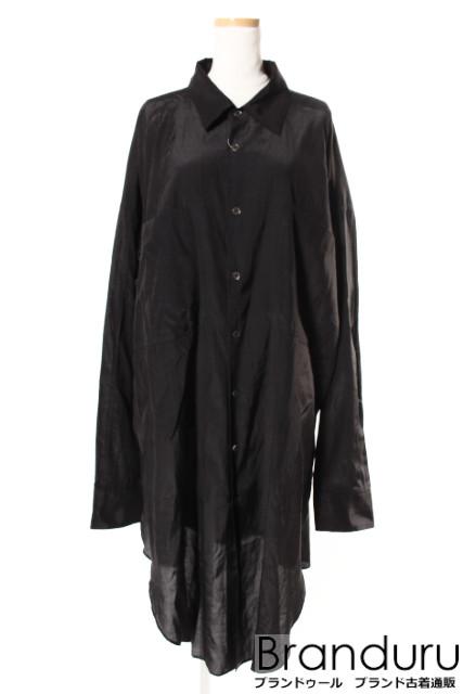 【新入荷!!】Lisiereアパルトモン 17AW Satin Oversize シャツ[LSHP19704]【FF】【中古】【5400円以上のご購入で送料無料】