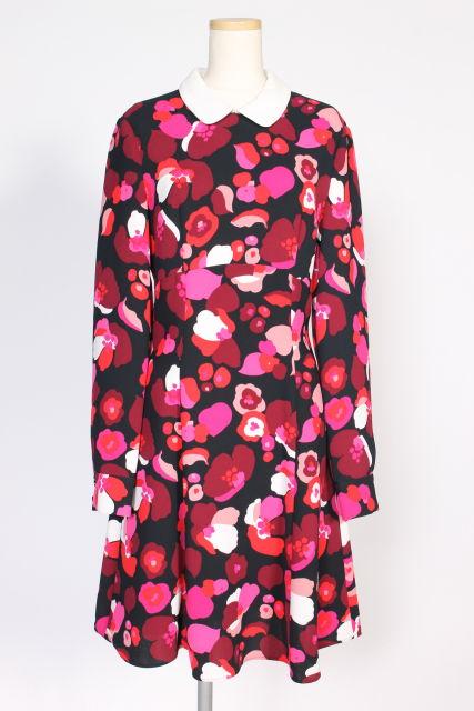【入荷時より価格値下げ!】ケイトスペード NJMU5451 falling florals crepe ドレス[LOPO71360]【FF】【中古】【5400円以上のご購入で送料無料】