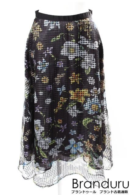 【7月20日に初値下げ!】グレースクラス 18SS メッシュボタニカルスカート[LSKP26111]【PP】【中古】【5400円以上のご購入で送料無料】