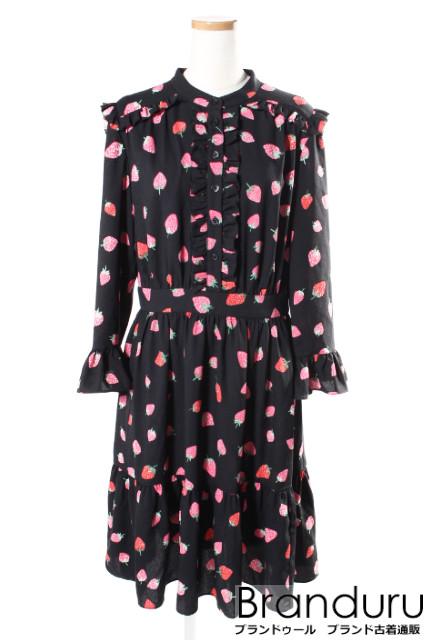 【7月20日に初値下げ!】ケイトスペード NJMU8456 18SS tossed berry shirtドレス[LOPP24306]【PP】【中古】【5400円以上のご購入で送料無料】