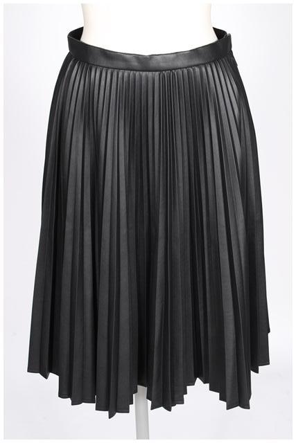 【新入荷!!】ルネRene フェイクレザープリーツスカート[LSKO86543]【FF】【中古】【5400円以上のご購入で送料無料】