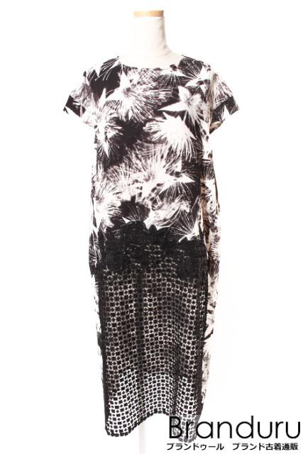 クロスエム ミカニナガワCROSS M mika ninagawa フラワープリント刺繍ドレス[LOPP32761]【PP】【中古】【5400円以上のご購入で送料無料】