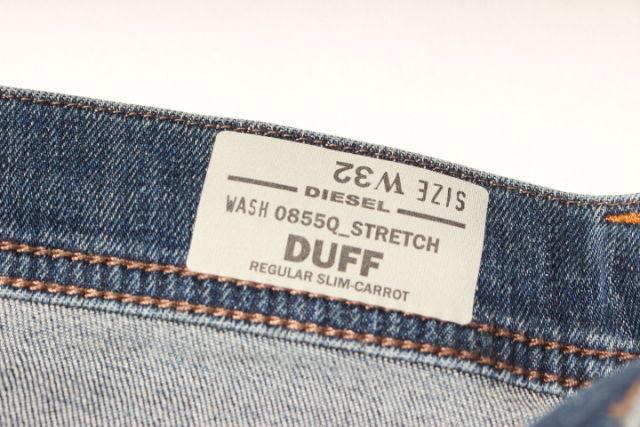 新入荷ディーゼルDIESEL 16AW Duff 0855Q 裾リブデニム MDNP393055400円以上のご購入で送料無料Yb7f6ygv