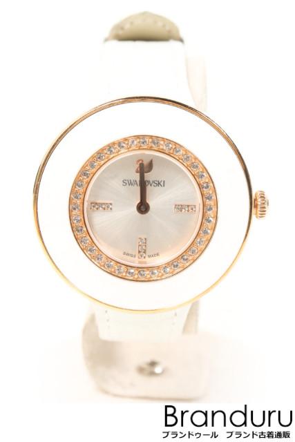 【7月31日に初値下げ!】スワロフスキー 5182265 オクティアホワイトローズ腕時計[LWWP28100]【中古】【5400円以上のご購入で送料無料】