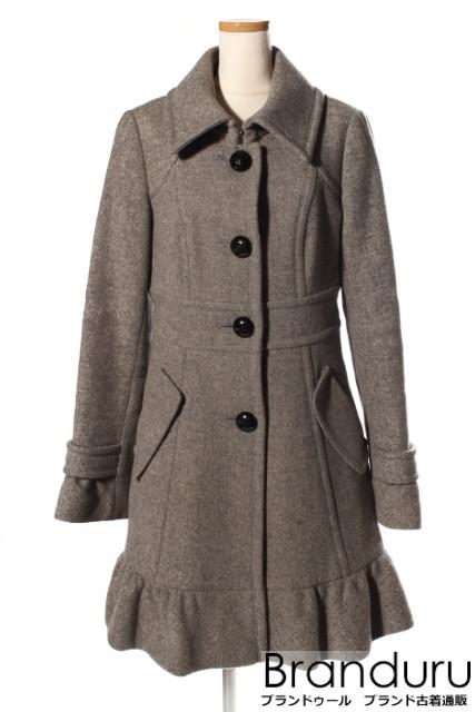 【新入荷!!】バーバリーブルーレーベル ウール混フレア裾コート[LCTP10928]【AW】【中古】【5400円以上のご購入で送料無料】