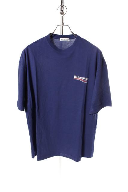 【新入荷!!】バレンシアガ 17AWロゴプリントTシャツ[MTSP56841]【SS】【中古】【5400円以上のご購入で送料無料】