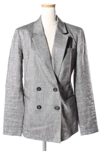 【春夏物新入荷!!】セオリーtheory 18SS Sharkskin Crunch DBL Breasted Blazer ジャケット[LJKP39134]【PP】【中古】【5400円以上のご購入で送料無料】