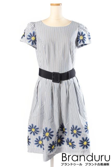 【春夏物新入荷!!】エムズグレイシー 18SS Margaret Motif Dress ワンピース[LOPP32044]【SS】【中古】【5400円以上のご購入で送料無料】