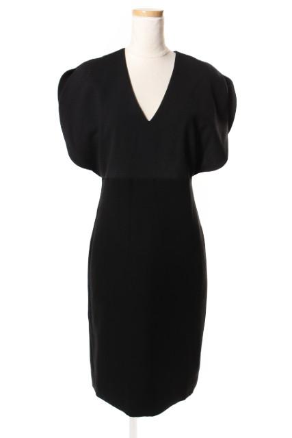 【入荷時より価格値下げ!】ヨーコチャンYOKOCHAN 17SS V-neck Round-sleeve ドレス[LOPP41004]【PP】【中古】【5400円以上のご購入で送料無料】
