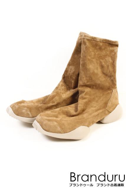 【再入荷!!】リックオウエンス ×アディダス RO RUNNER ANKLE BOOT ソックスニーカーブーツ[MFWP18299]【FF】【中古】【5400円以上のご購入で送料無料】