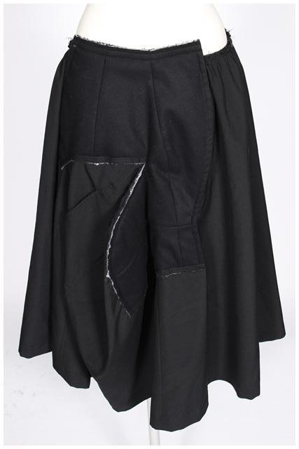 【入荷時より価格値下げ!】コムデギャルソン ウール変形スカート[LSKO81236]【FF】【中古】【5400円以上のご購入で送料無料】