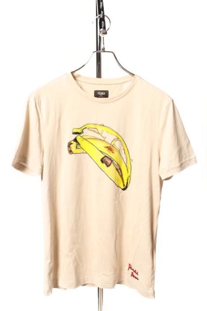 フェンディFENDI 18SSバナナデザインTシャツ[MTSP45099]【SS】【中古】【5400円以上のご購入で送料無料】